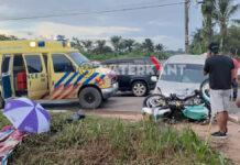 Twee doden bij aanrijding tussen motorfiets en personenauto