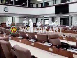 Nationale Assemblée grondig ontsmet na corona besmettingen politici