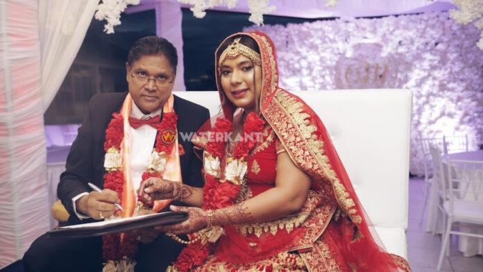 Surinaamse president Santokhi getrouwd met levenspartner Melissa