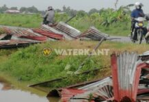 VIDEO: Schade door harde windstoten in NickerieVIDEO: Schade door harde windstoten in Nickerie