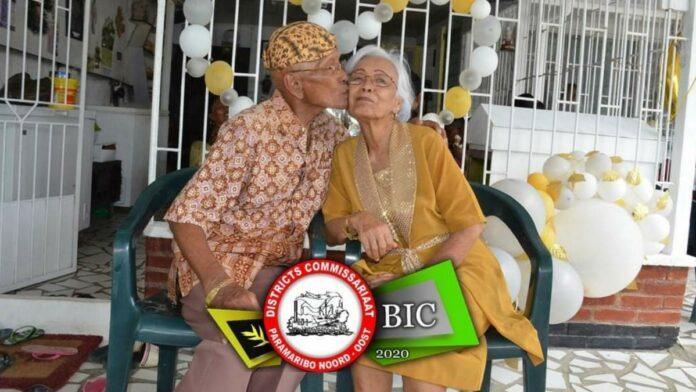Diamanten huwelijk 60 jaar voor echtpaar Singoredjo–Alim