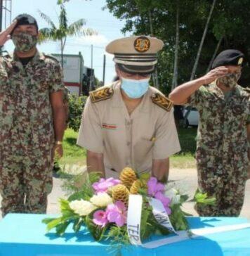 Herdenking frontale botsing TRIS-militairen suriname lelydorp 50 jaar geleden