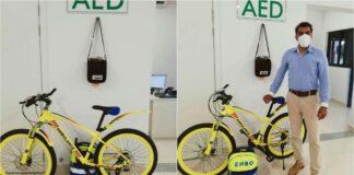 Regionaal Ziekenhuis Wanica presenteert eerste ambulancefiets
