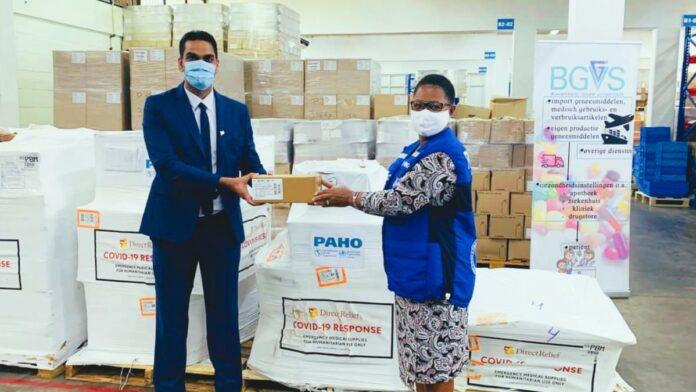 Suriname ontvangt US$ 130.000 aan Covid-benodigdheden van PAHO