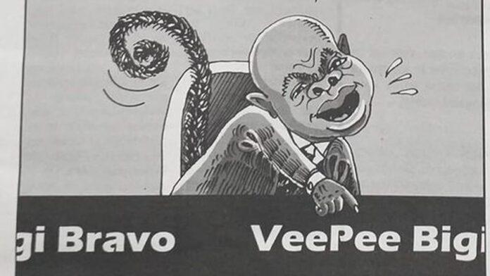 Cartoon waarin Brunswijk is afgebeeld met apenstaart houdt gemoederen flink bezig