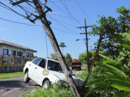 Dronken automobilist vlucht en ramt EBS stroompaal
