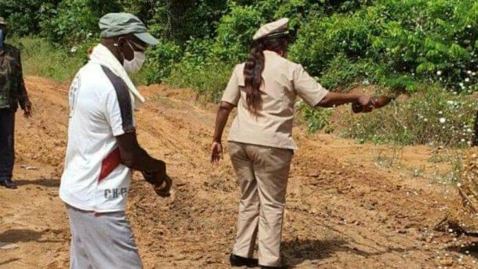 Startsein gegeven voor rehabilitatie weg naar Mapanegebied