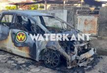 Voertuig compleet verwoest na autobrand tijdens avondklok