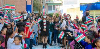 First lady bedankt kinderen van Rotterdamse basisschool