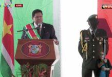 President Santokhi spreekt eerste jaarrede uit
