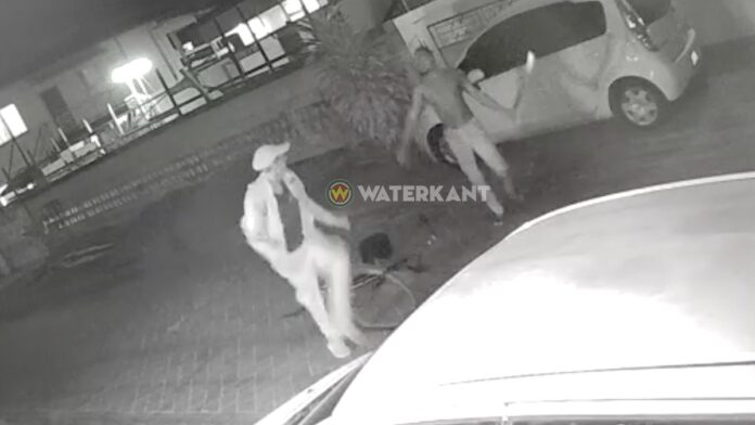 VIDEO: Buurtbewoner valt vermeende accudief aan met houwer