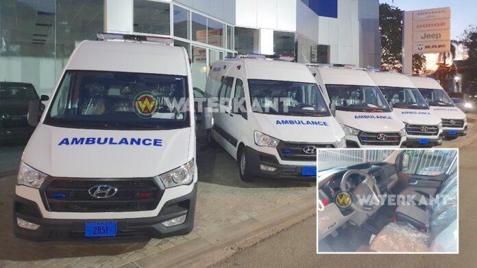 Nieuwe ambulances voor ministerie van Volksgezondheid in Suriname