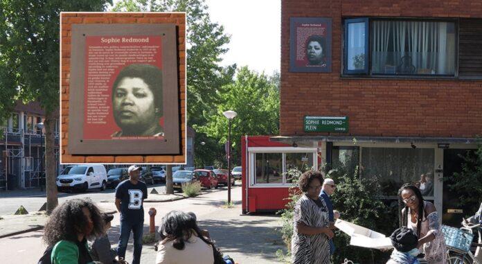 Paneel voor Sophie Redmond onthult in Amsterdam Zuid-Oost