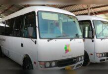 Districtscommissariaat Coronie voorzien van twee bussen