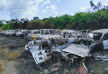 Grasbrand begraafplaats verwoest bijkans 40 auto's van sloperij