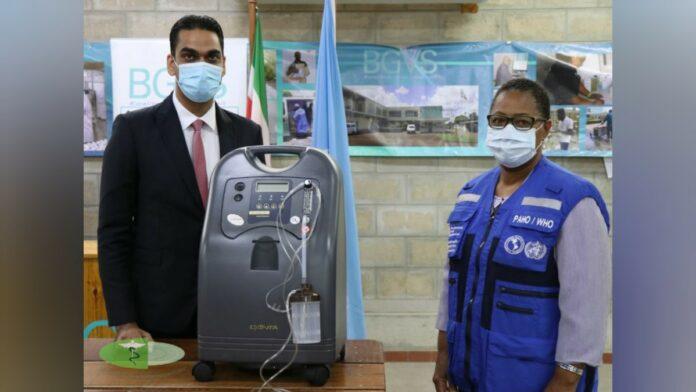 PAHO doneert zuurstofconcentrators aan Volksgezondheid