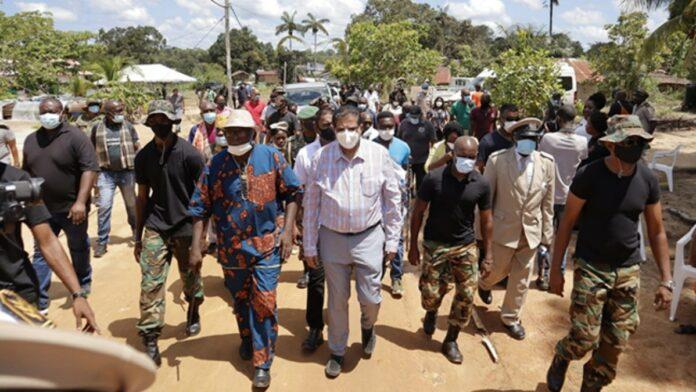 Presidentiële delegatie brengt dit weekend door te Pusugrunu