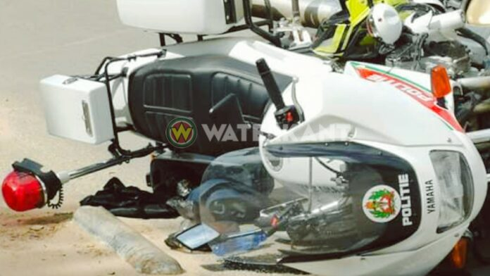 aanrijding-motorfietser-msd-korps-politie-suriname