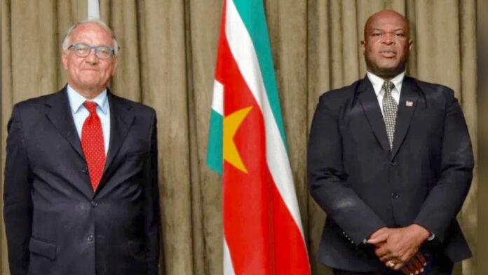 Vice-president Brunswijk ontmoet Franse Ambassadeur Joly