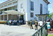 protestactie kabinet van de president suriname
