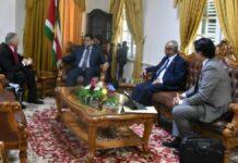 Ambassadeur Ghana brengt beleefdheidsbezoek aan president Santokhi