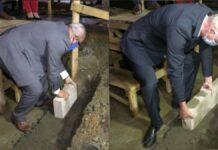 Ministers Ramdin en Blok leggen eerste steen nieuw hoofdkantoorgebouw Surinaamse Bierbrouwerij
