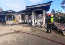 VIDEO: Woonhuis volledig afgebrand in Suriname
