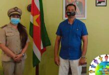 Districtscommissaris Saramacca voert onderhoud met minister Openbare Werken