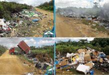 Onhygiënische situatie nabij vuilstortplaats te South Drain
