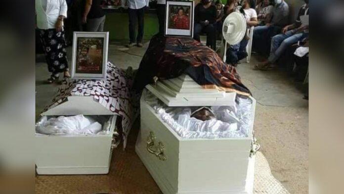 Aangereden oma en kleindochter begraven