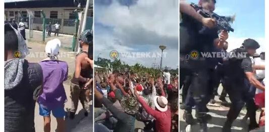 Bivakkerende Cubaben weggehaald bij Canawaima terrein
