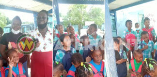 500 schooltassen gedoneerd aan schoolkinderen in Suriname