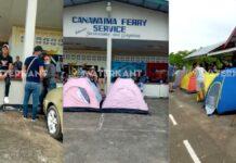 VIDEO: Honderden Cubanen die naar Guyana willen oversteken in Nickerie gestrand