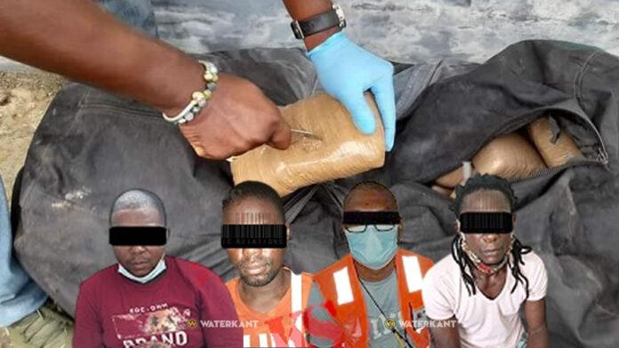 Aangehouden drugsverdachten werkzaam bij bedrijf op Haven