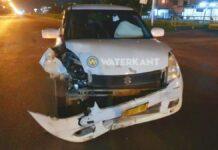 Aanrijding met zware schade op Indira Gandhiweg tijdens lockdown