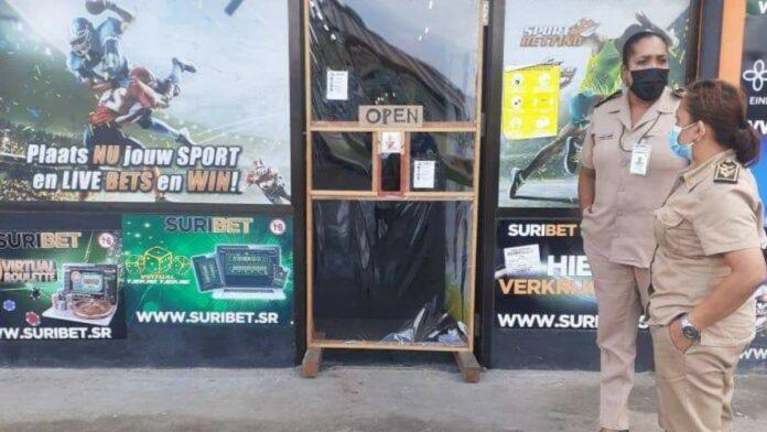 Suribetshop in Blauwgrond gesloten tijdens controle