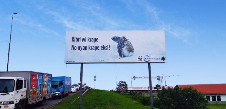 WWF-Guianas plaatst nieuwe billboards in Suriname met urgente boodschap