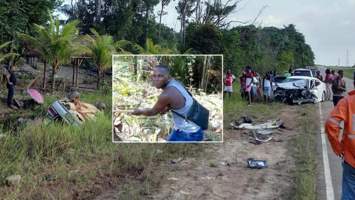 Nog een dode na zware aanrijding Afobakaweg afgelopen maandag