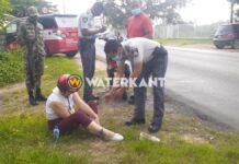 Bromfietser gewond na aanrijding door auto