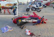 Bromfietster zwaargewond na aanrijding met afslaande auto
