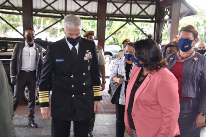 Admiraal Faller noemt Suriname belangrijke en gewaardeerde regionale veiligheidspartner