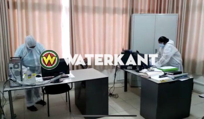 VIDEO: Belastingkantoor Nickerie ontsmet na aanwezigheid besmet persoon