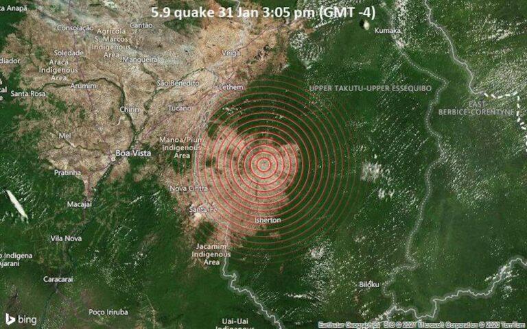 Aardbeving in Guyana ook gevoeld in Suriname