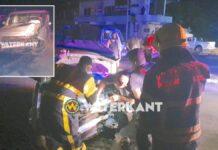 Autobestuurder 'vliegt' over rotonde tijdens black-out