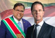 President Santokhi brengt in februari bezoek aan Premier Rutte