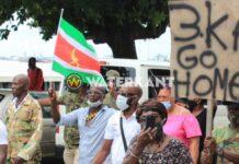 Geen vergunning voor Sibrano Pique om te demonstreren