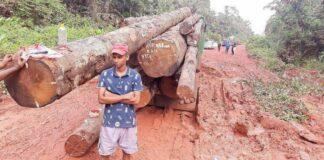 Weg naar Apoera weer in slechte staat