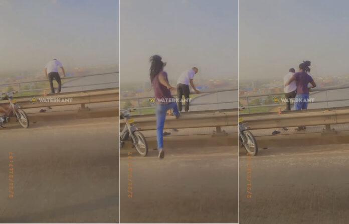 VIDEO: Omstanders voorkomen dat man van Bosjebrug springt