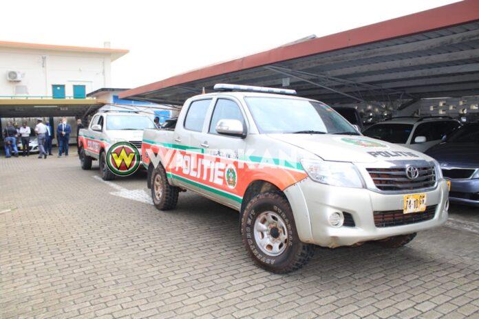 Gereviseerde voertuigen Newmont naar Korps Politie Suriname