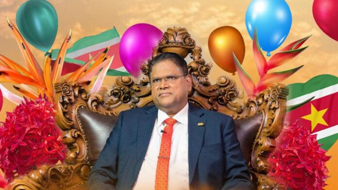 Surinaamse president Santokhi vandaag 62 jaar